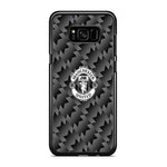 Manchester United Black Carbon Logo Samsung Galaxy S8 Case