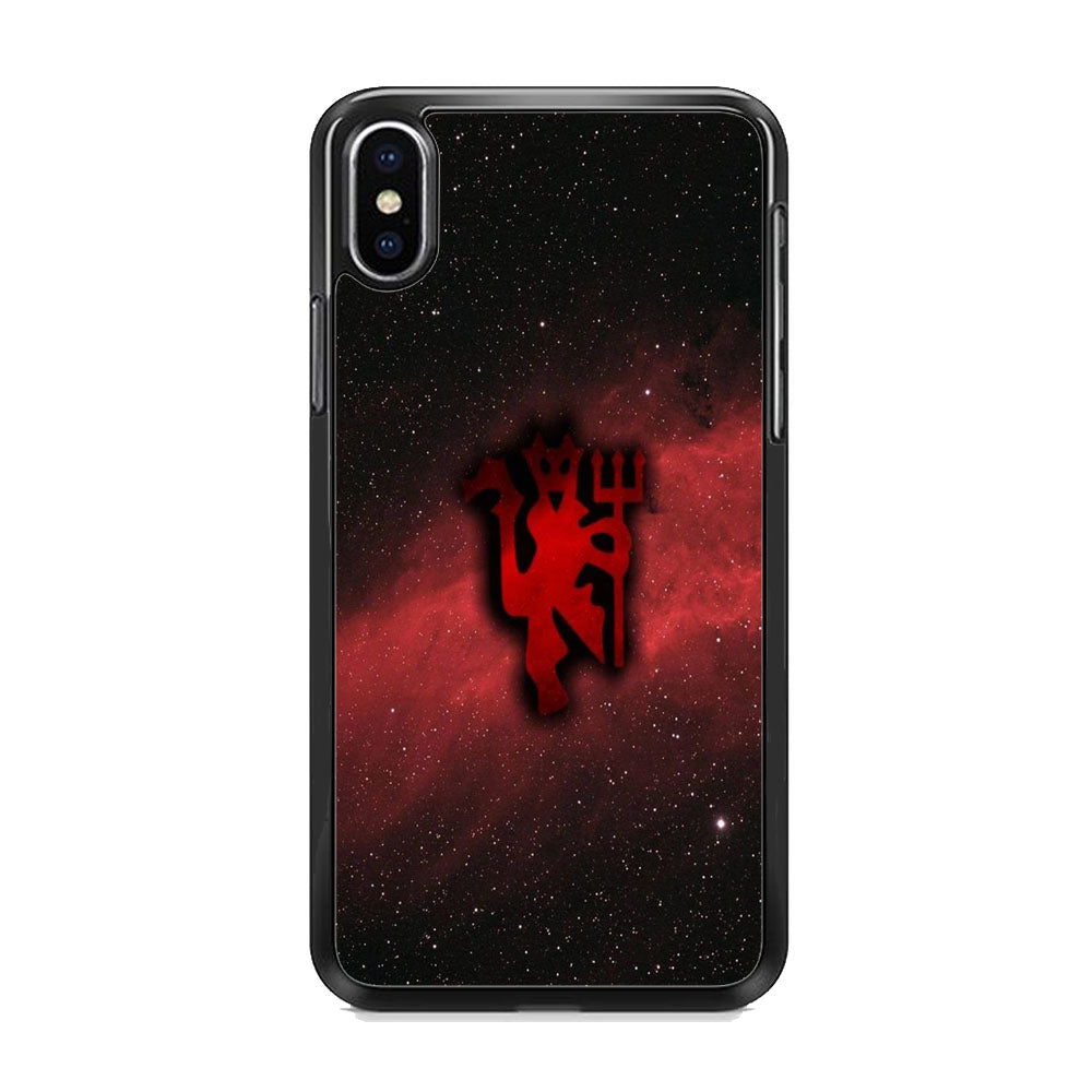 Manchester United Devil Galaxy iPhone X Case