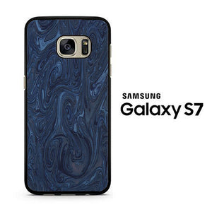 Marble Blue 001 Samsung Galaxy S7 Case