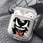 Marvel Venom Head Splash Slime Protective Clear Case Cover For Apple Airpods