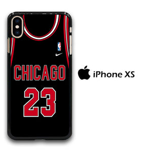 NBA Chicago Black 23 iPhone Xs Case