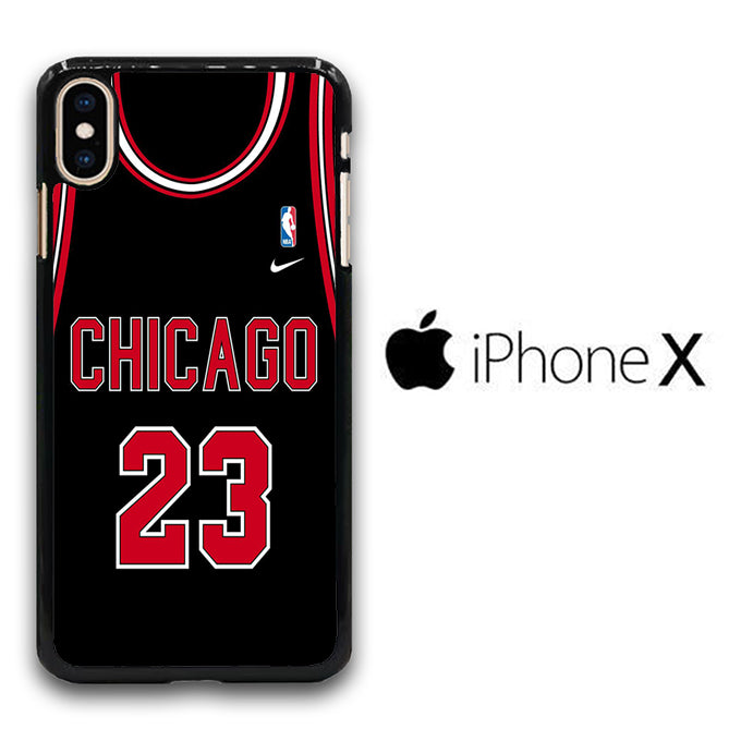 NBA Chicago Black 23 iPhone X Case