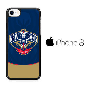NBA Orleans Pelicans Blue iPhone 8 Case