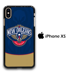 NBA Orleans Pelicans Blue iPhone Xs Case