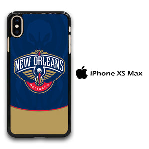 NBA Orleans Pelicans Blue iPhone Xs Max Case