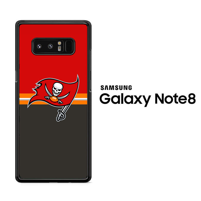 NFL Tampa Bay Buccaneers Red Grey Samsung Galaxy Note 8 Case