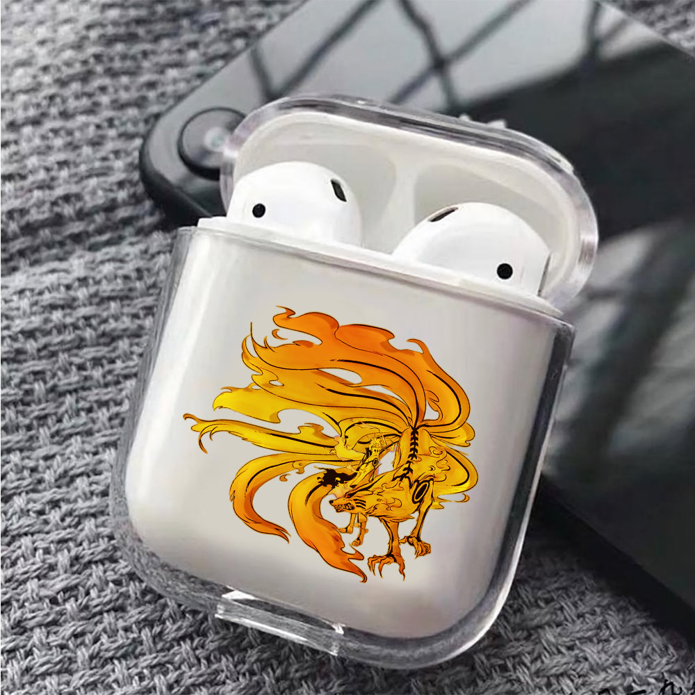 Naruto and Kurama Protective Clear Case Cover For Apple Airpods