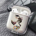 Ninja Play Skateboard Protective Clear Case Cover For Apple Airpods