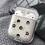 No Face Soot Sprites Play With Stars Protective Clear Case Cover For Apple Airpods