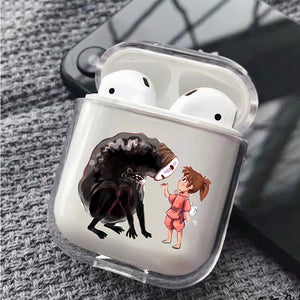No Face With Chihiro Cute Protective Clear Case Cover For Apple Airpods