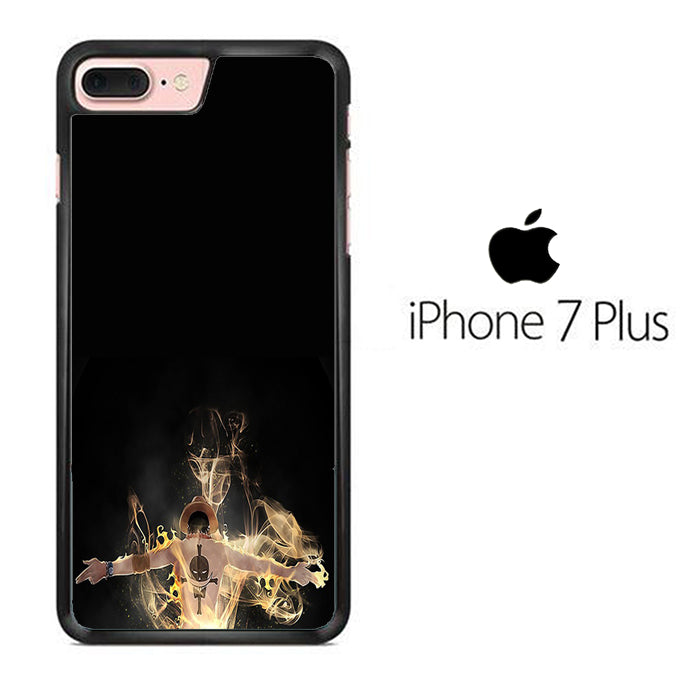 One Piece Ace Black iPhone 7 Plus Case