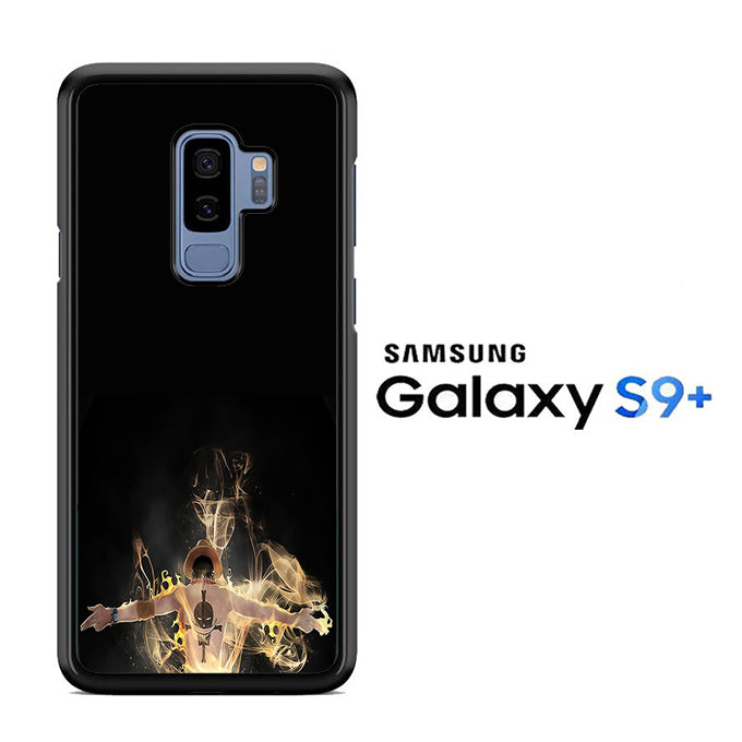 One Piece Ace Black Samsung Galaxy S9 Plus Case