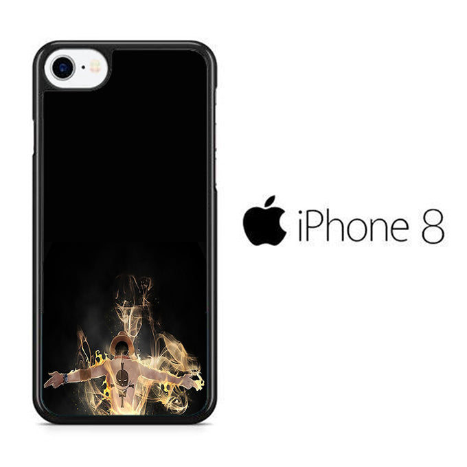 One Piece Ace Black iPhone 8 Case