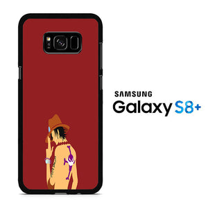 One Piece Ace Maroon Samsung Galaxy S8 Plus Case