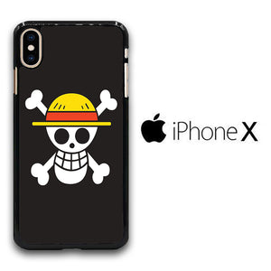 One Piece Black Logo iPhone X Case