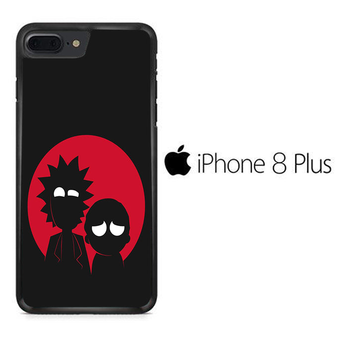 Rick and Morty Black Red iPhone 8 Plus Case