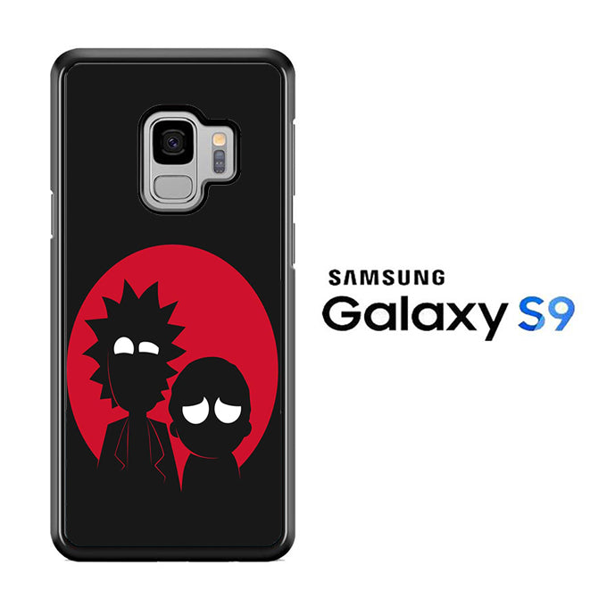 Rick and Morty Black Red Samsung Galaxy S9 Case