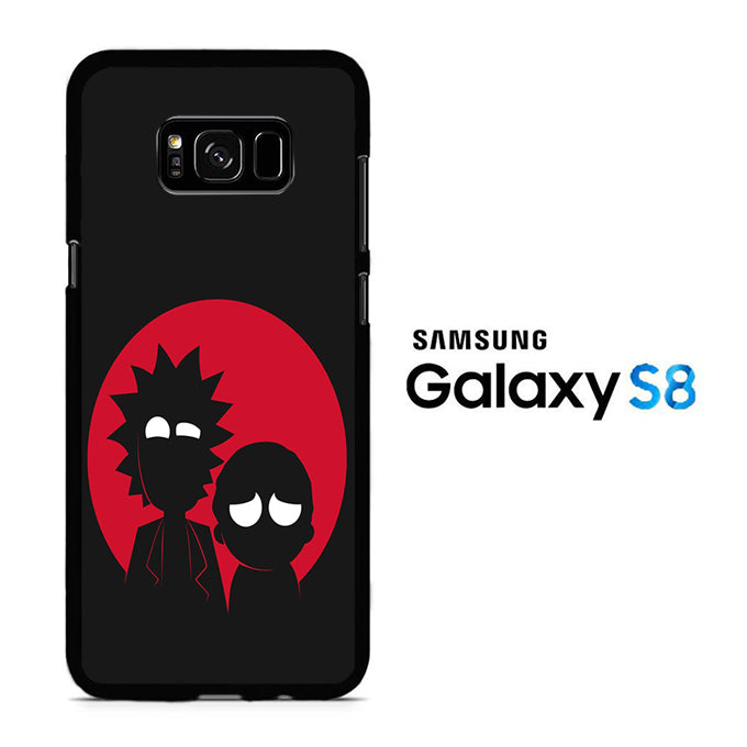 Rick and Morty Black Red Samsung Galaxy S8 Case
