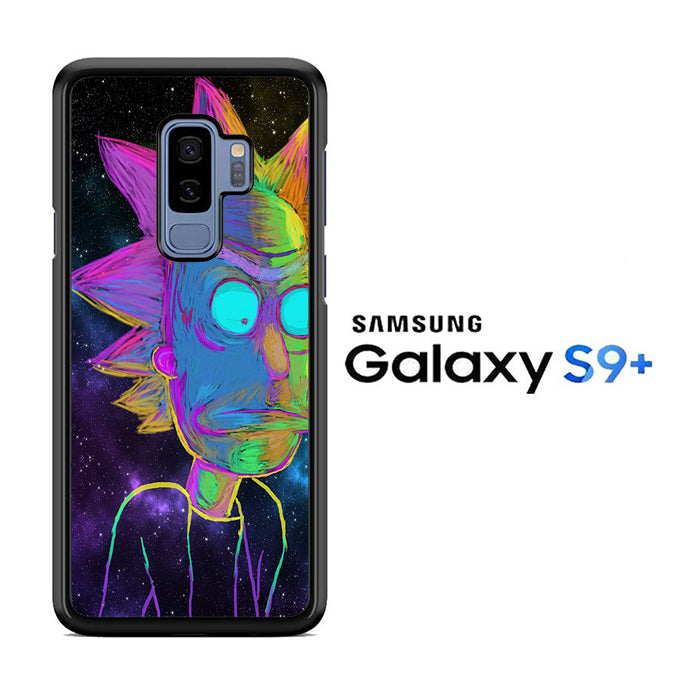 Rick and Morty Chalk Rainbow Samsung Galaxy S9 Plus Case
