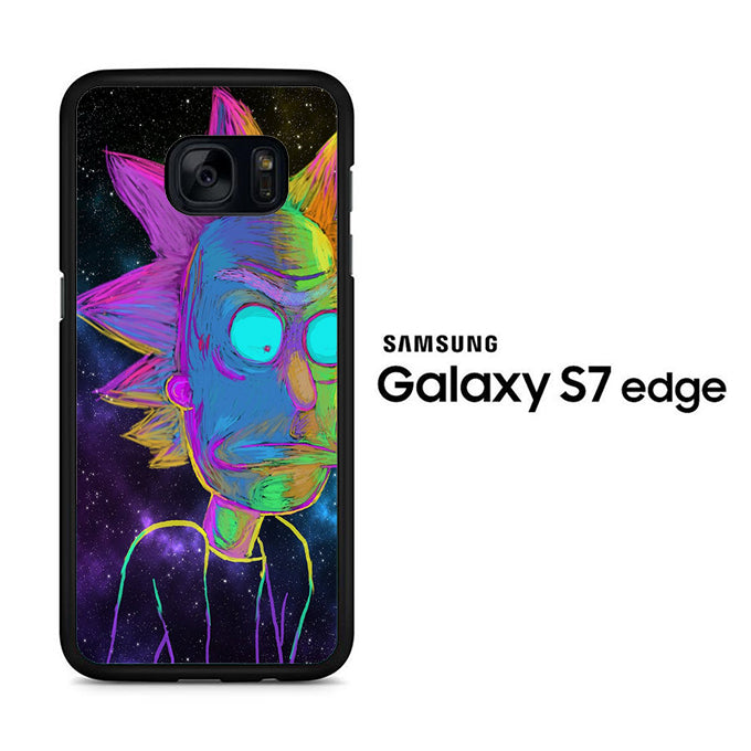 Rick and Morty Chalk Rainbow Samsung Galaxy S7 Edge Case