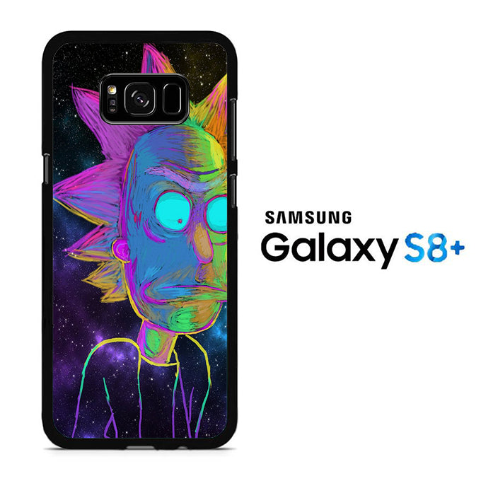 Rick and Morty Chalk Rainbow Samsung Galaxy S8 Plus Case