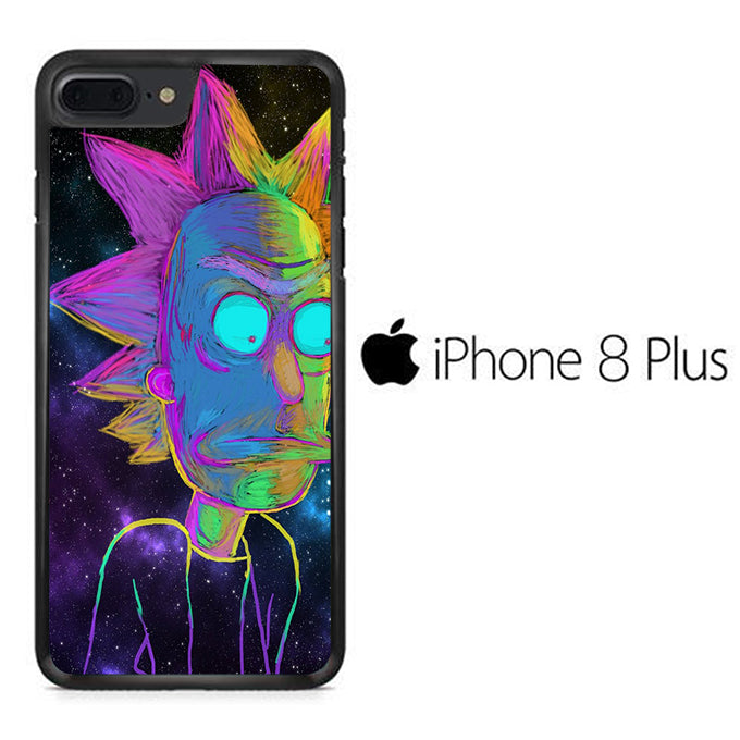 Rick and Morty Chalk Rainbow iPhone 8 Plus Case