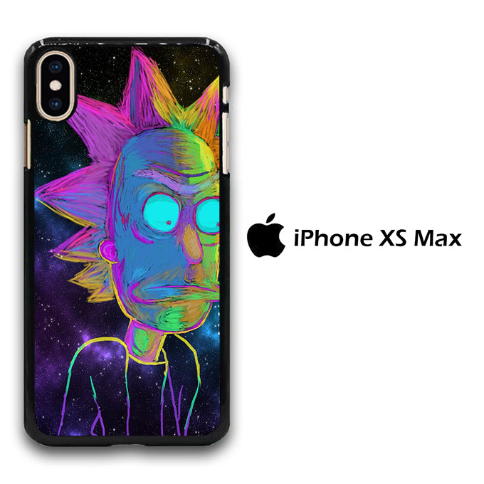 Rick and Morty Chalk Rainbow iPhone Xs Max Case
