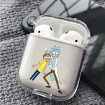 Rick and Morty Glared Protective Clear Case Cover For Apple Airpods