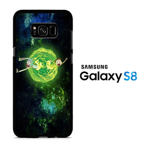 Rick and Morty Green Slime Samsung Galaxy S8 Case
