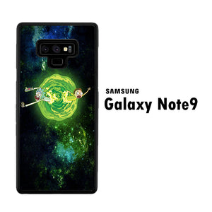 Rick and Morty Green Slime Samsung Galaxy Note 9 Case