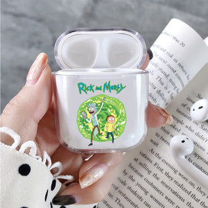 Rick and Morty Portal Protective Clear Case Cover For Apple Airpods