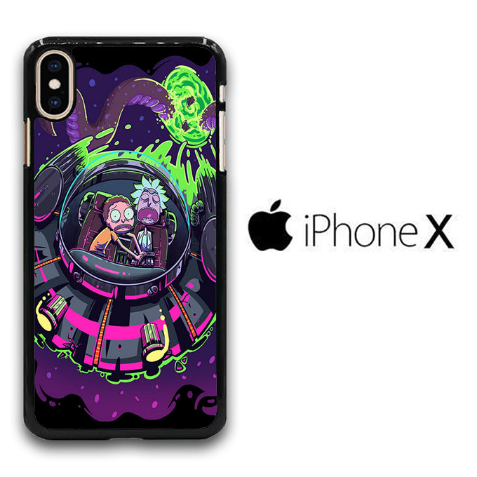 Rick and Morty Ufo iPhone X Case