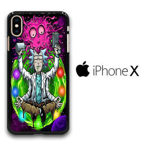 Rick and Morty Yoga iPhone X Case