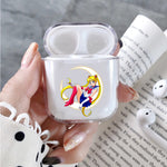Sailor Moon Enjoy On The Moon Protective Clear Case Cover For Apple Airpods