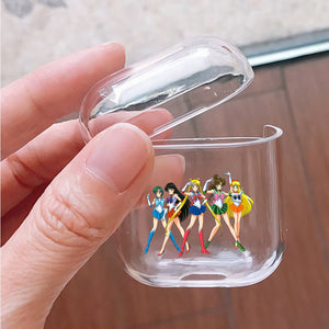 Sailor Moon Team Protective Clear Case Cover For Apple Airpods