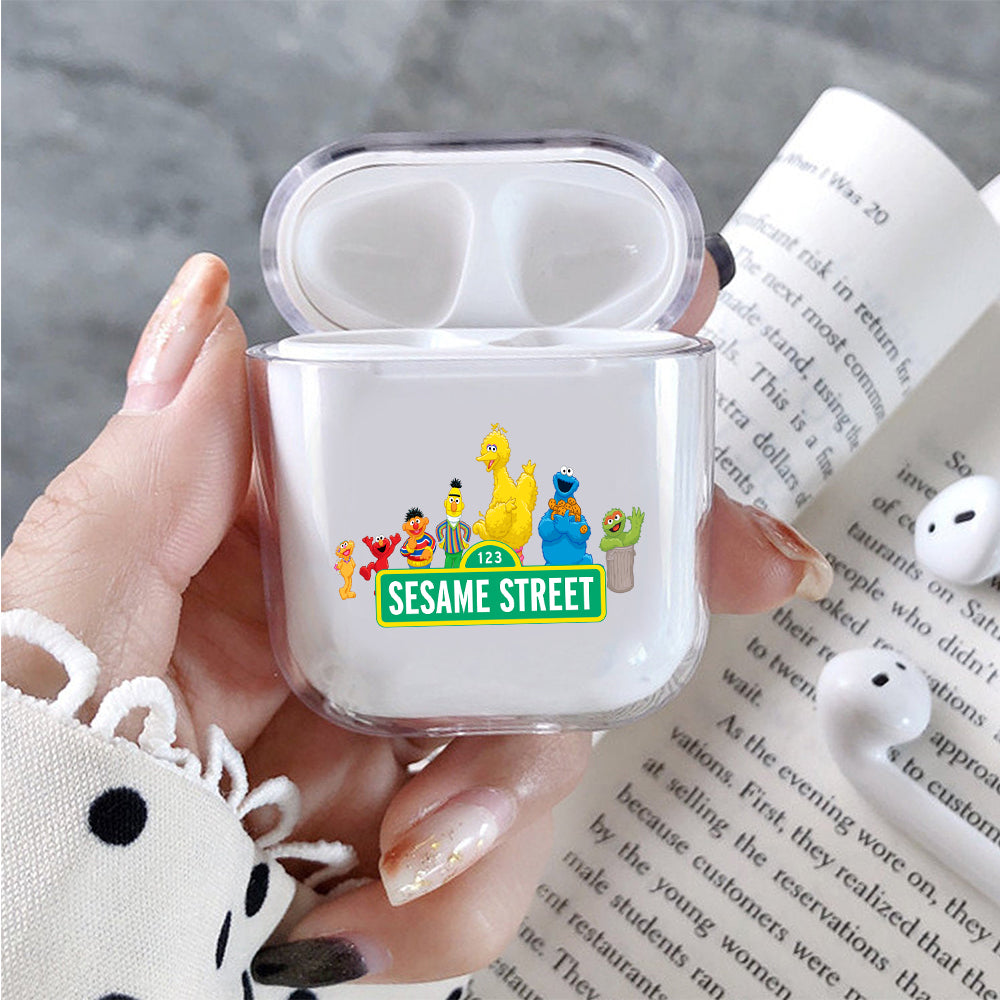 Sesame Street Family Protective Clear Case Cover For Apple Airpods