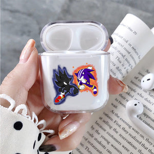 Sonic Beattle Darksonic x Darkspine Sonic Protective Clear Case Cover For Apple Airpods