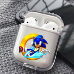 Sonic Splash Ring and Run Protective Clear Case Cover For Apple Airpods