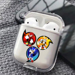 Sonic Three Sircle Protective Clear Case Cover For Apple Airpods