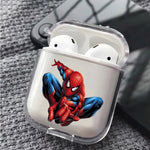 Spiderman Jump Protective Clear Case Cover For Apple Airpods