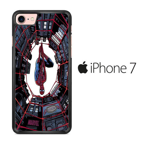 Spiderman Net Under Building iPhone 7 Case
