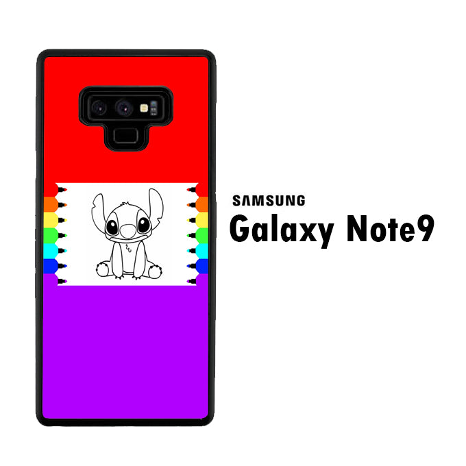 Stitch Drawing Samsung Galaxy Note 9 Case
