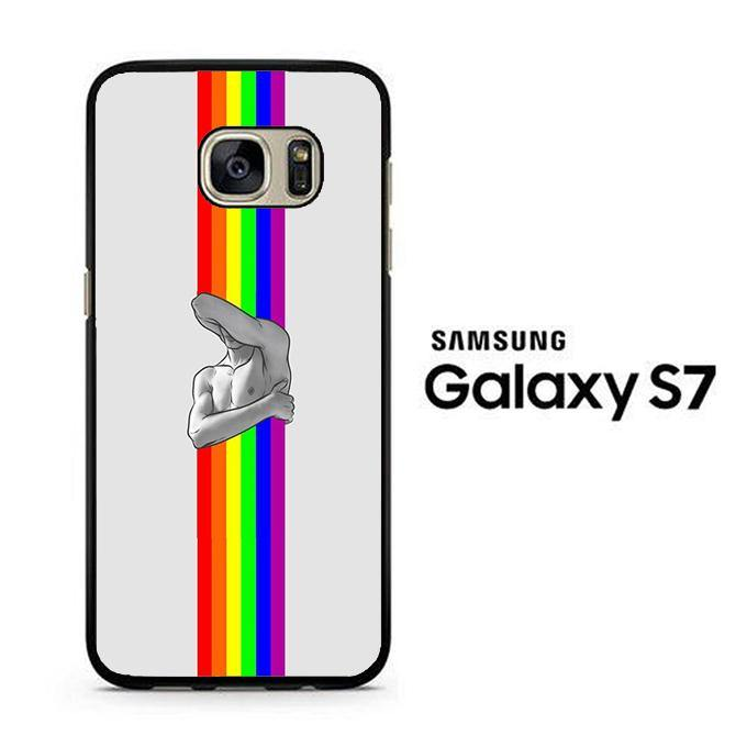 Stripe Rainbow Gym Samsung Galaxy S7 Case