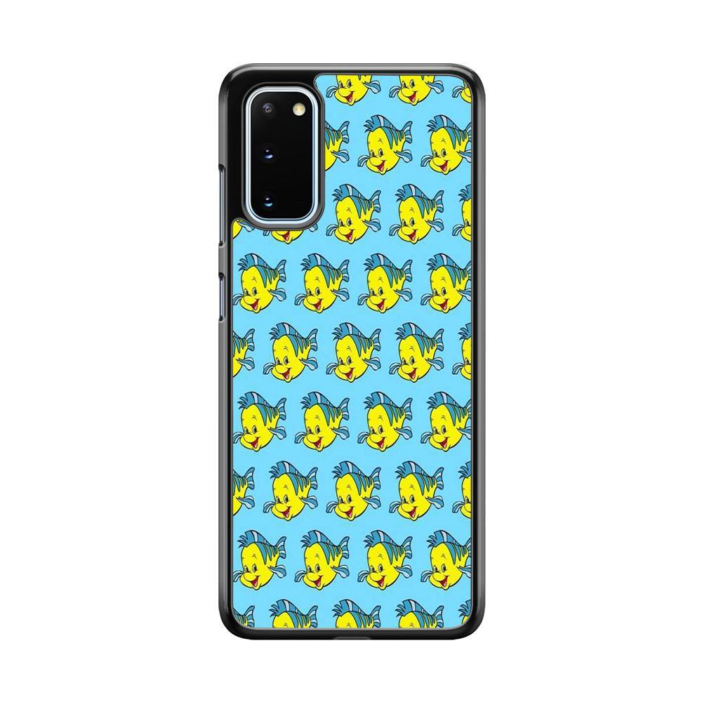 The Little Mermaid Flounder Doodle Samsung Galaxy S20 Case