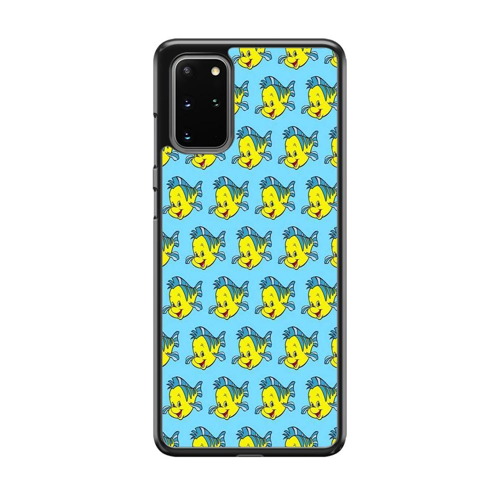 The Little Mermaid Flounder Doodle Samsung Galaxy S20 Plus Case