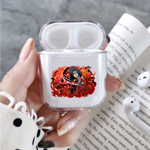 Uchiha Itachi Red Blazing Protective Clear Case Cover For Apple Airpods