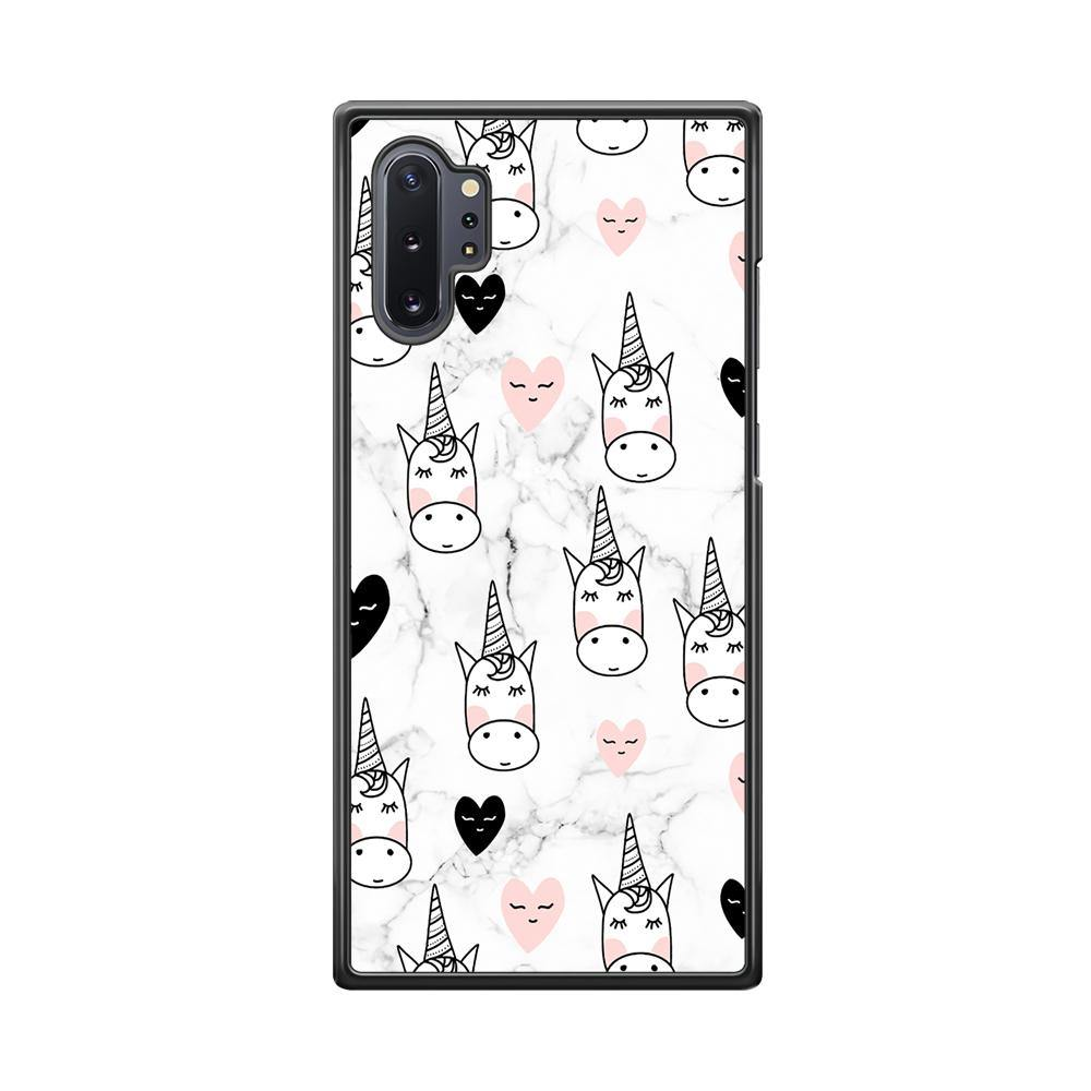 Unicorn Marble White Samsung Galaxy Note 10 Plus Case