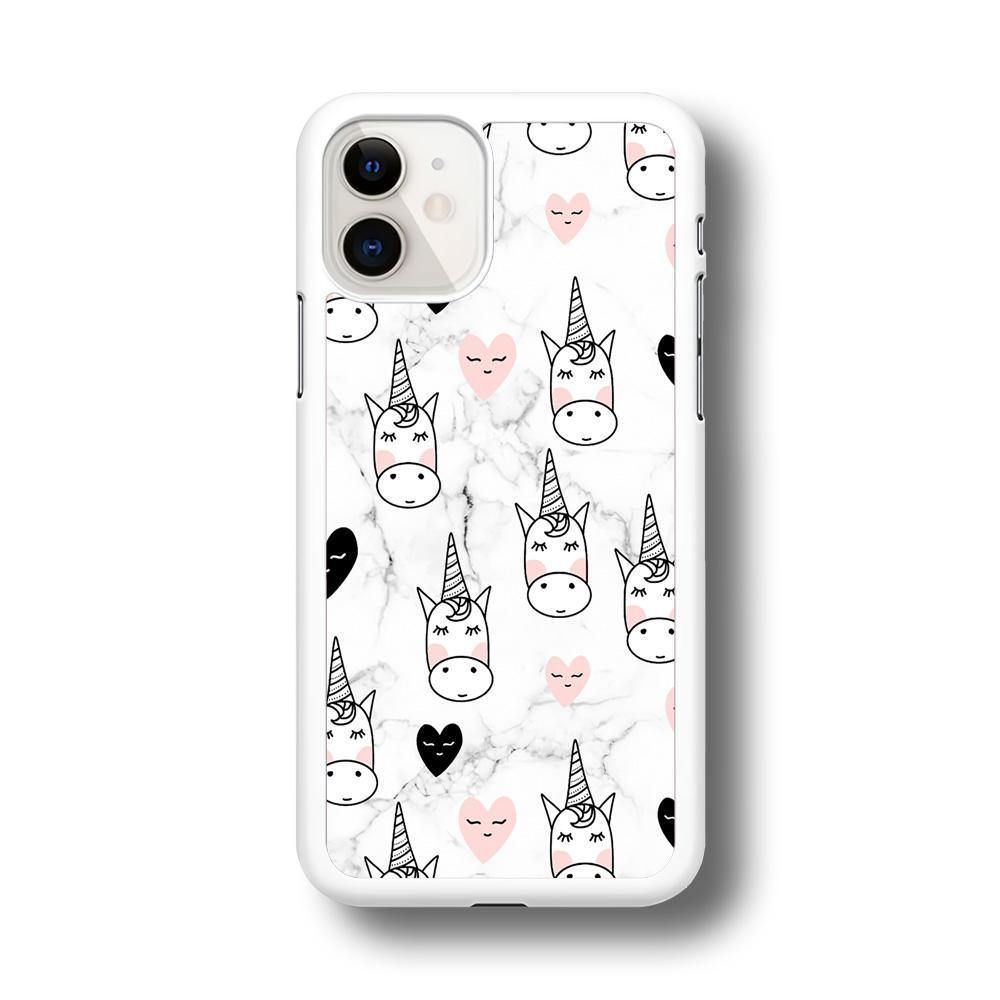Unicorn Marble White iPhone 11 Case - ezzyst