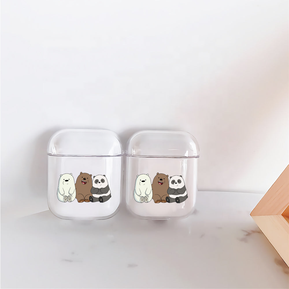 We Bare Bear Protective Clear Case Cover For Apple Airpods