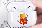 Winnie The Pooh Falling In Love Protective Clear Case Cover For Apple AirPod Pro